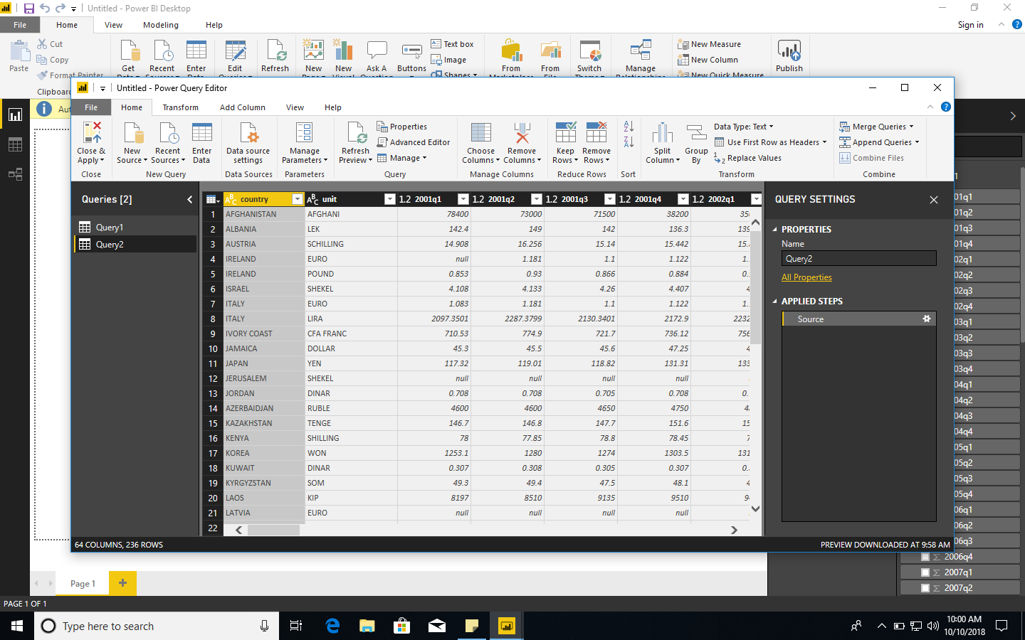 Power BI and data world